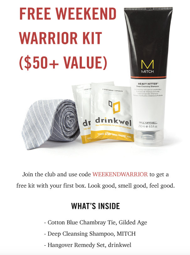 Bespoke Post Coupon - FREE Weekend Warrior Kit ($50+ value) with your subscription!