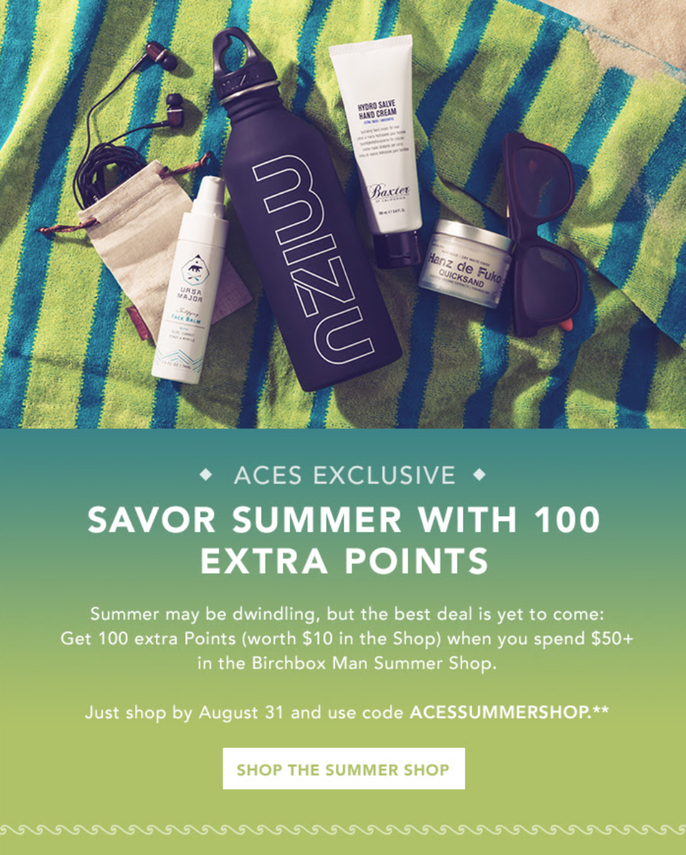 New Birchbox Coupon - Aces Only!
