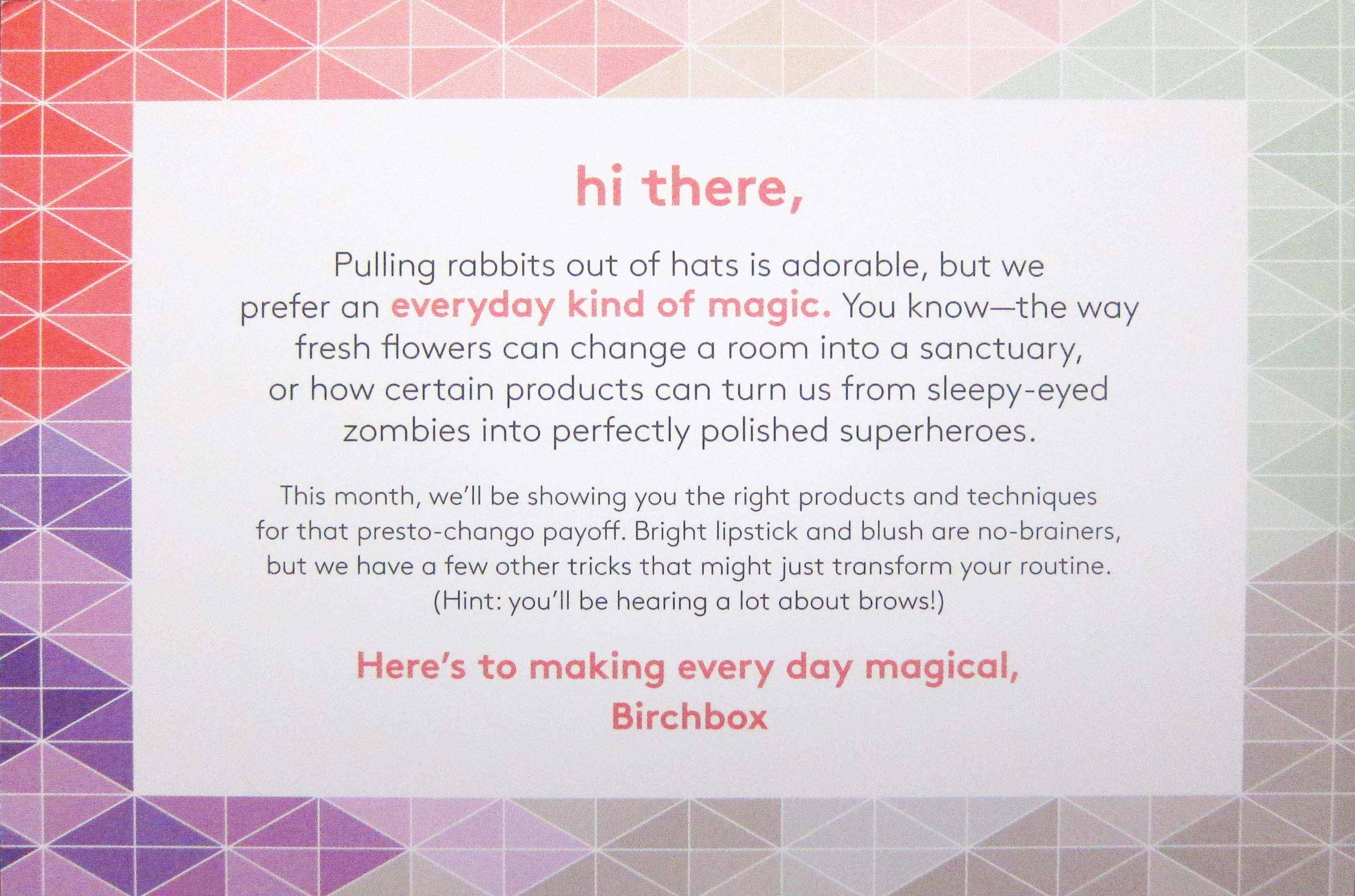 Birchbox June 2016 Info