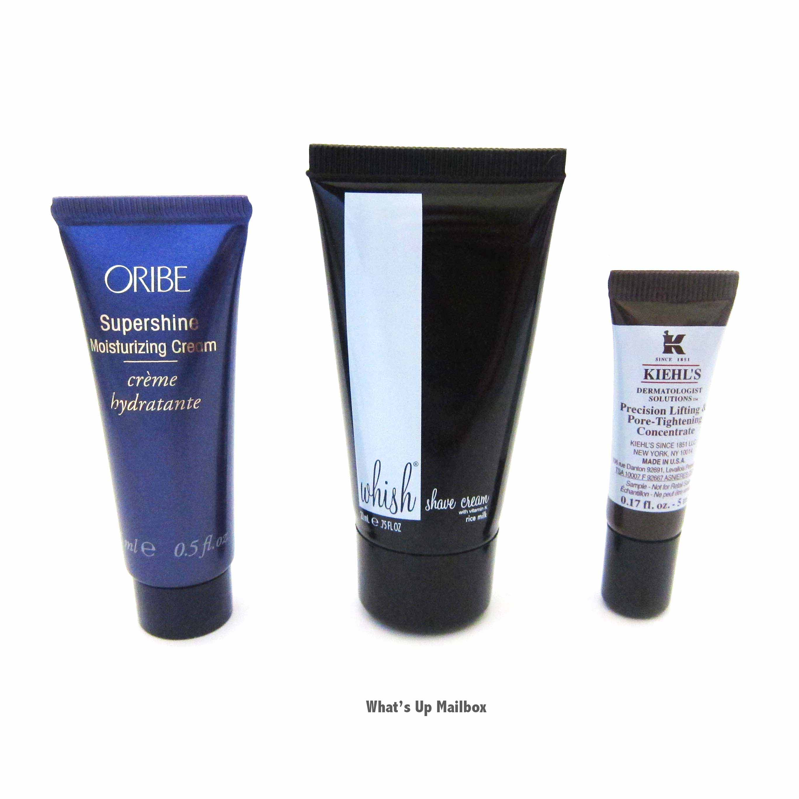Oribe Cream, Whish Shave Cream, Kiehl's Serum