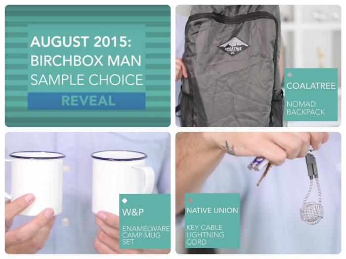 Birchbox Man August 2015 Power Play Choices!