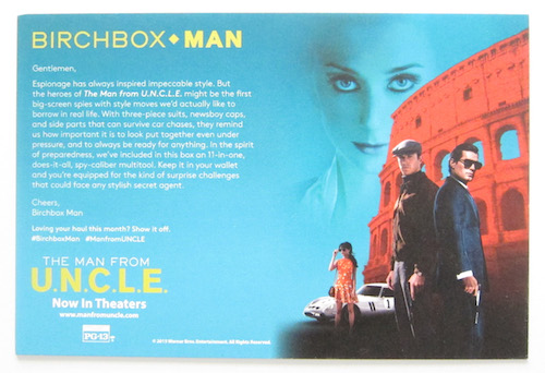 Birchbox Man September 2015 Items