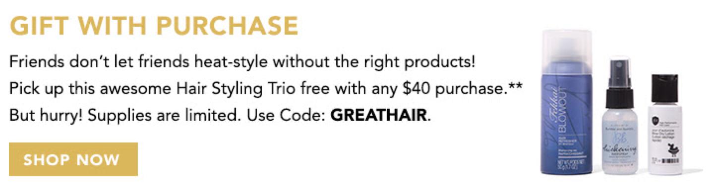 Birchbox GWP - Free Hair Styling Trio!