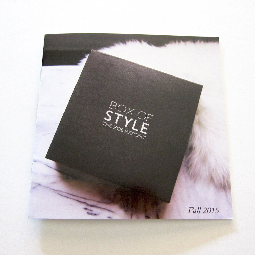 Box of Style Fall 2015 Info Booklet