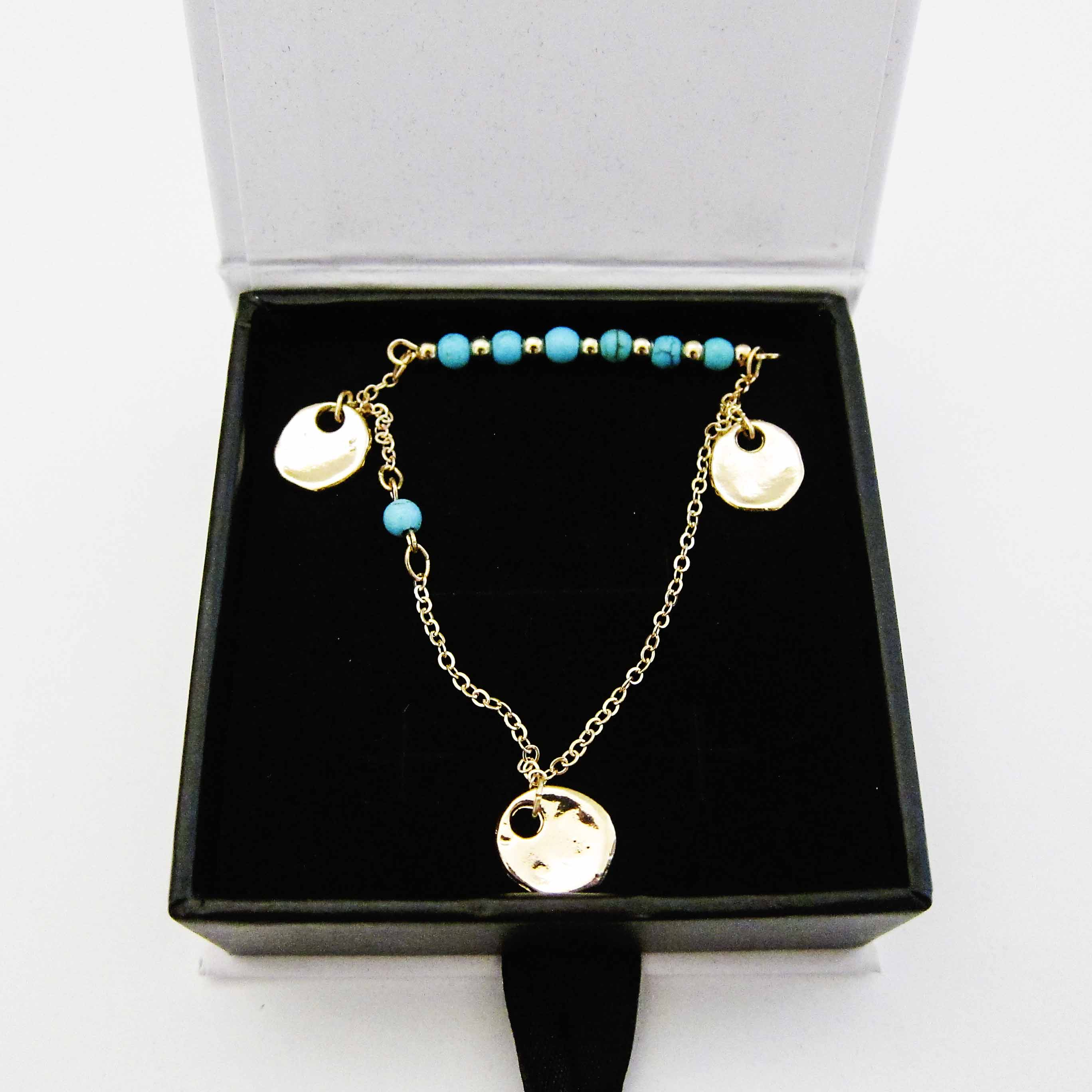 Cate & Chloe Selena Divine Layered Turquoise Necklace
