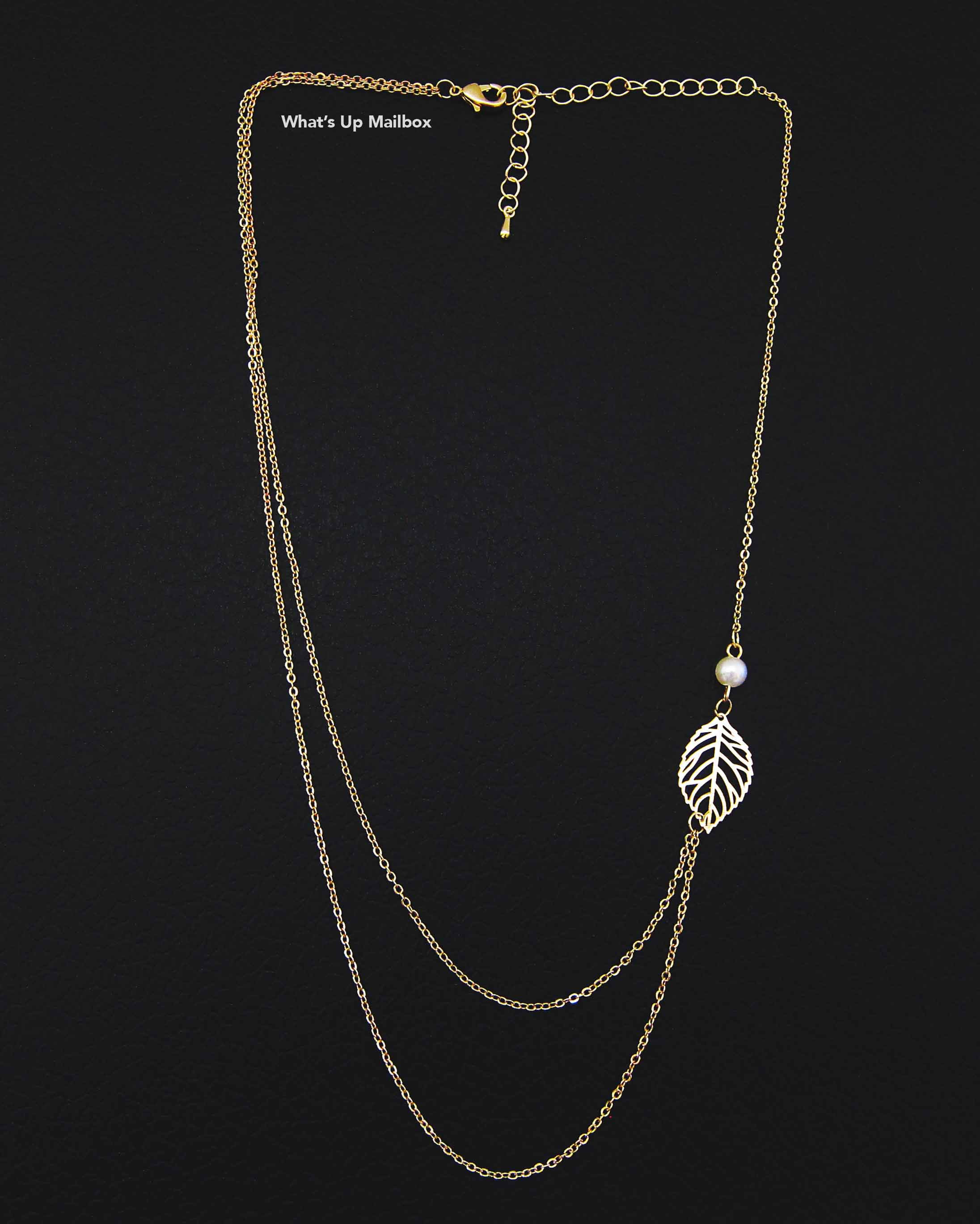 Cate & Chloe Ashlyn Nature Double Strand Leaf Necklace