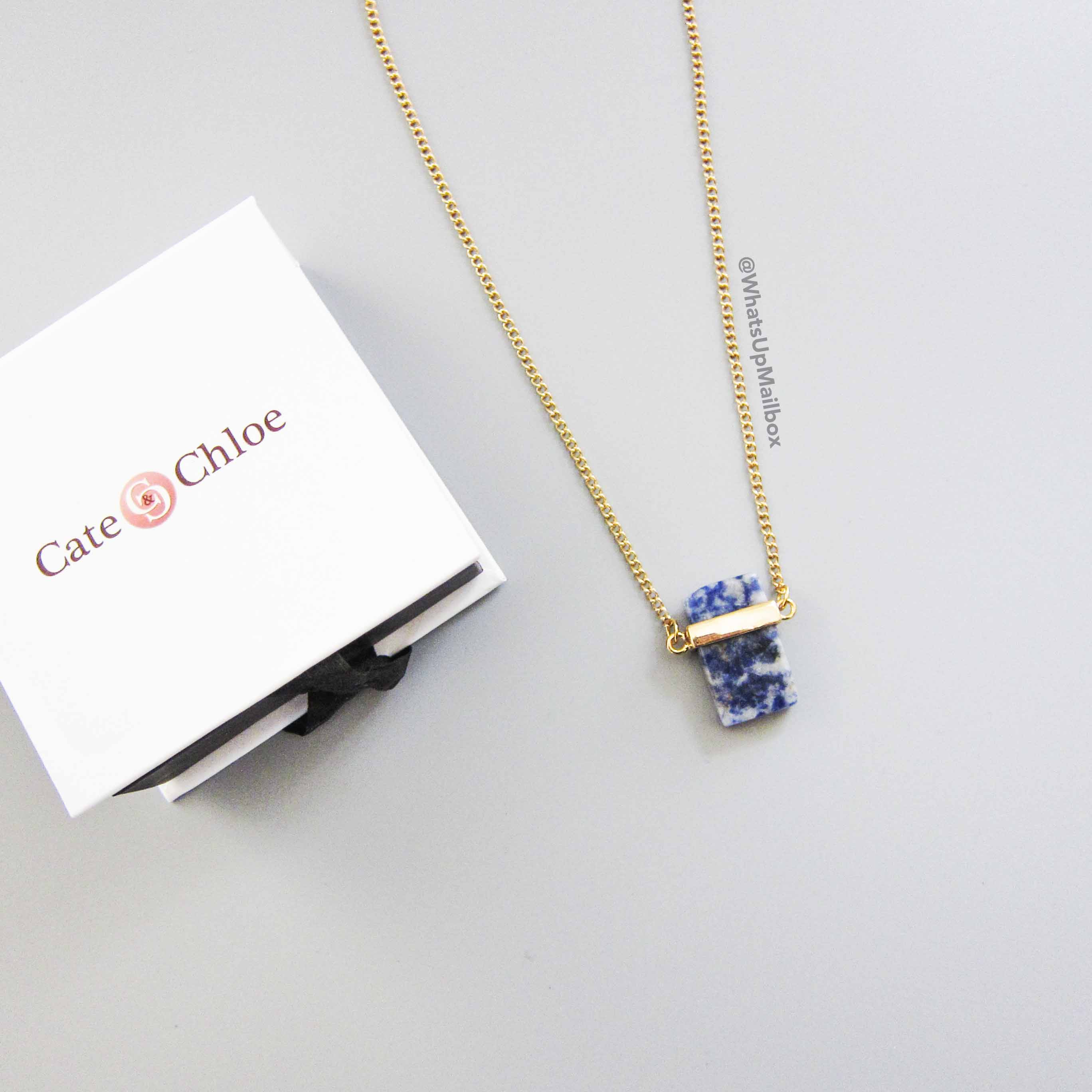 Cate & Chloe Monica Intuition 18K Gold Plated Stone Necklace
