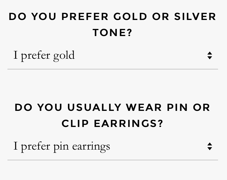 Emma & Chloe Jewelry Preferences