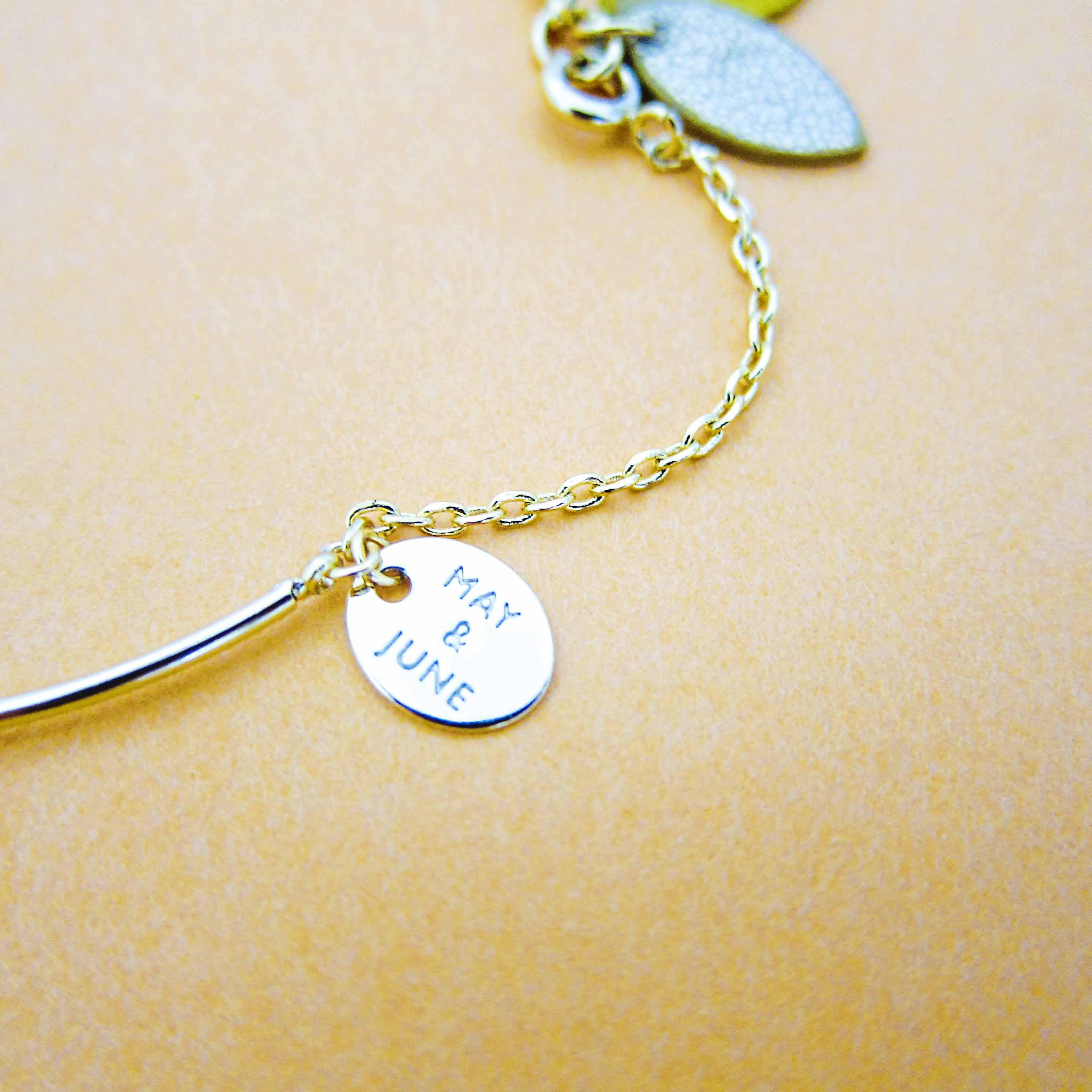 Emma & Chloe September 2016 Item - May & June Tumen Bracelet in Gold