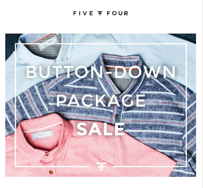 Five Four Button-Down Shirts Package Sale!