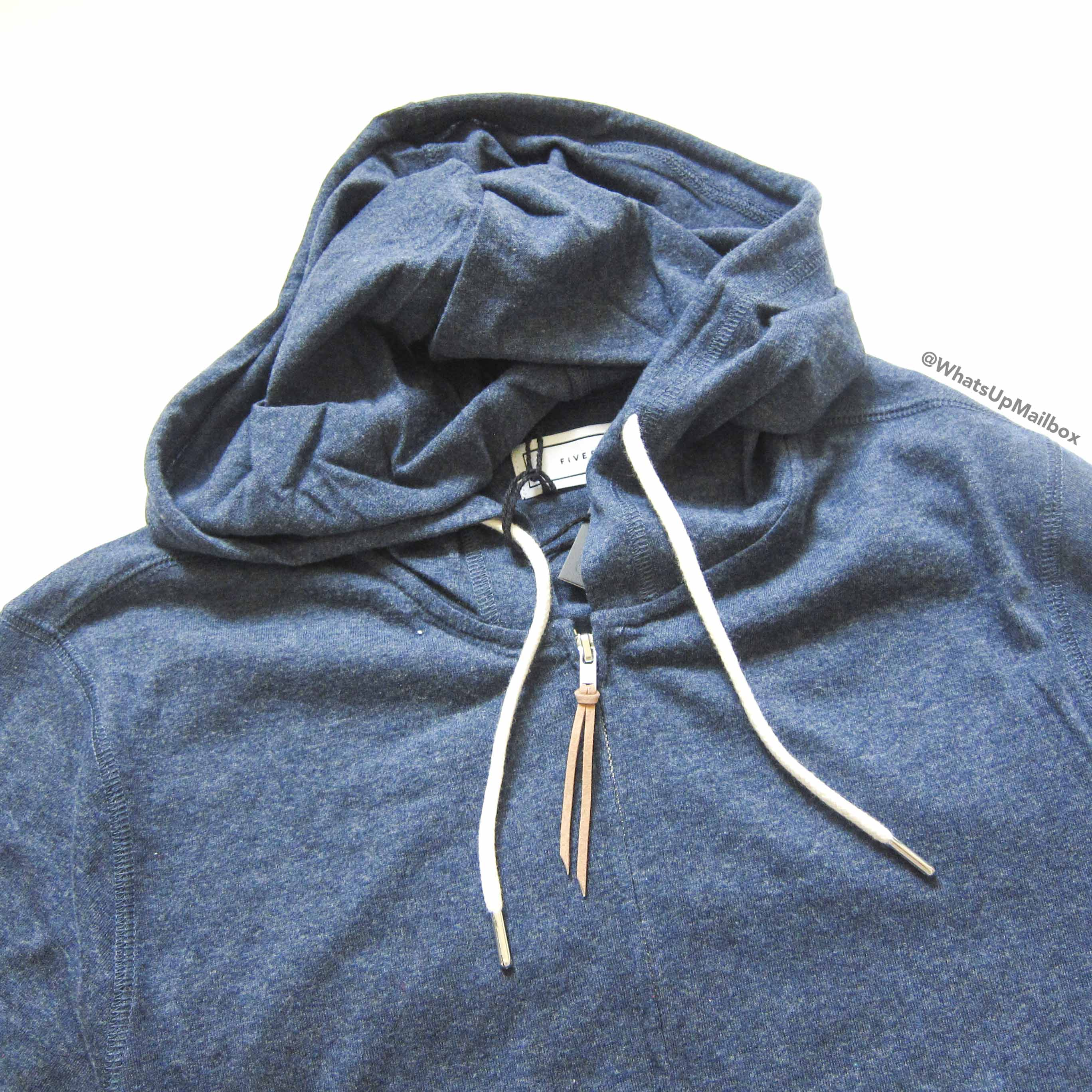 Five Four Club Ash Blue Zip Hoodie