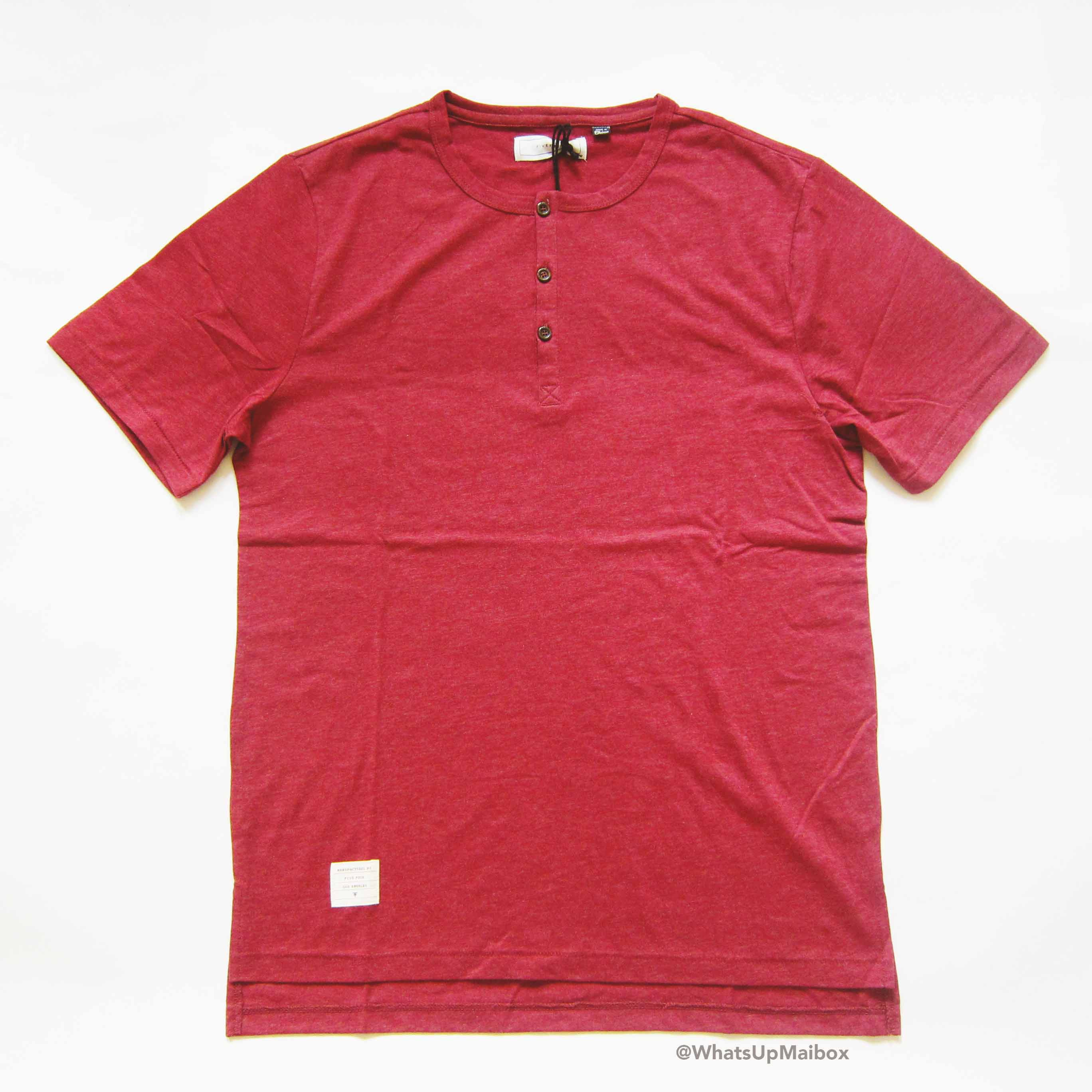 Five Four Club Hickory Wine Henley