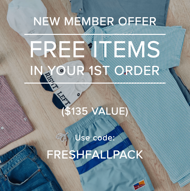 Five Four Club: New Member Offer - 2 Free Shirts + Sunglasses!