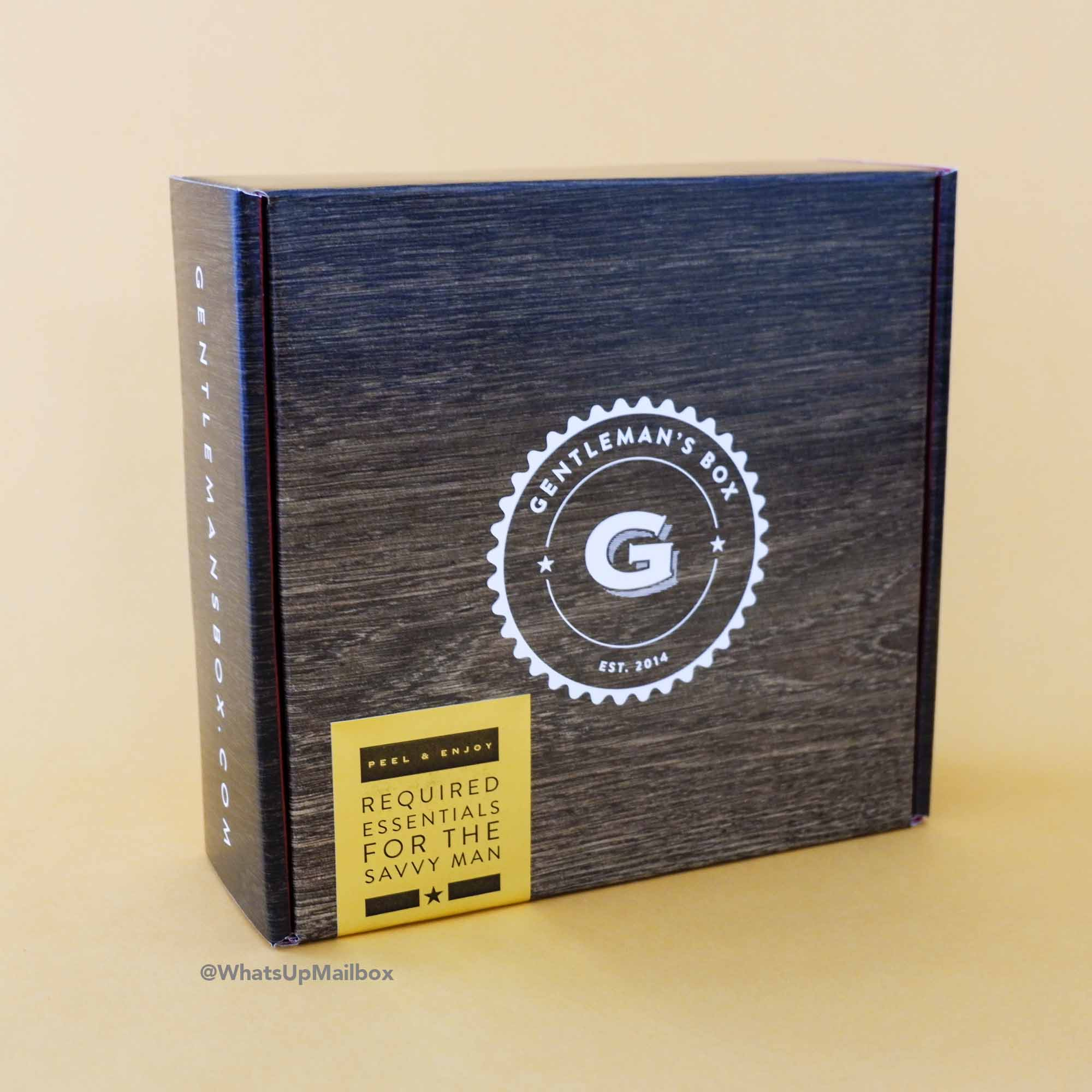 Gentleman's Box February 2017 Box