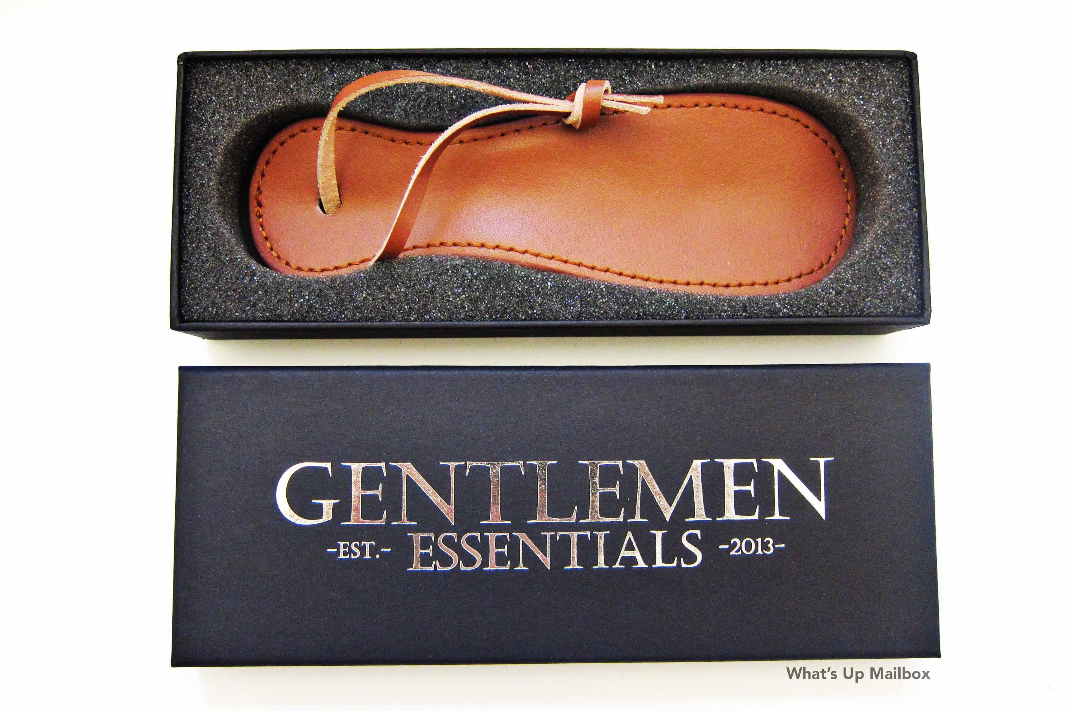 Gentlemen Essentials Leather Shoe Horn