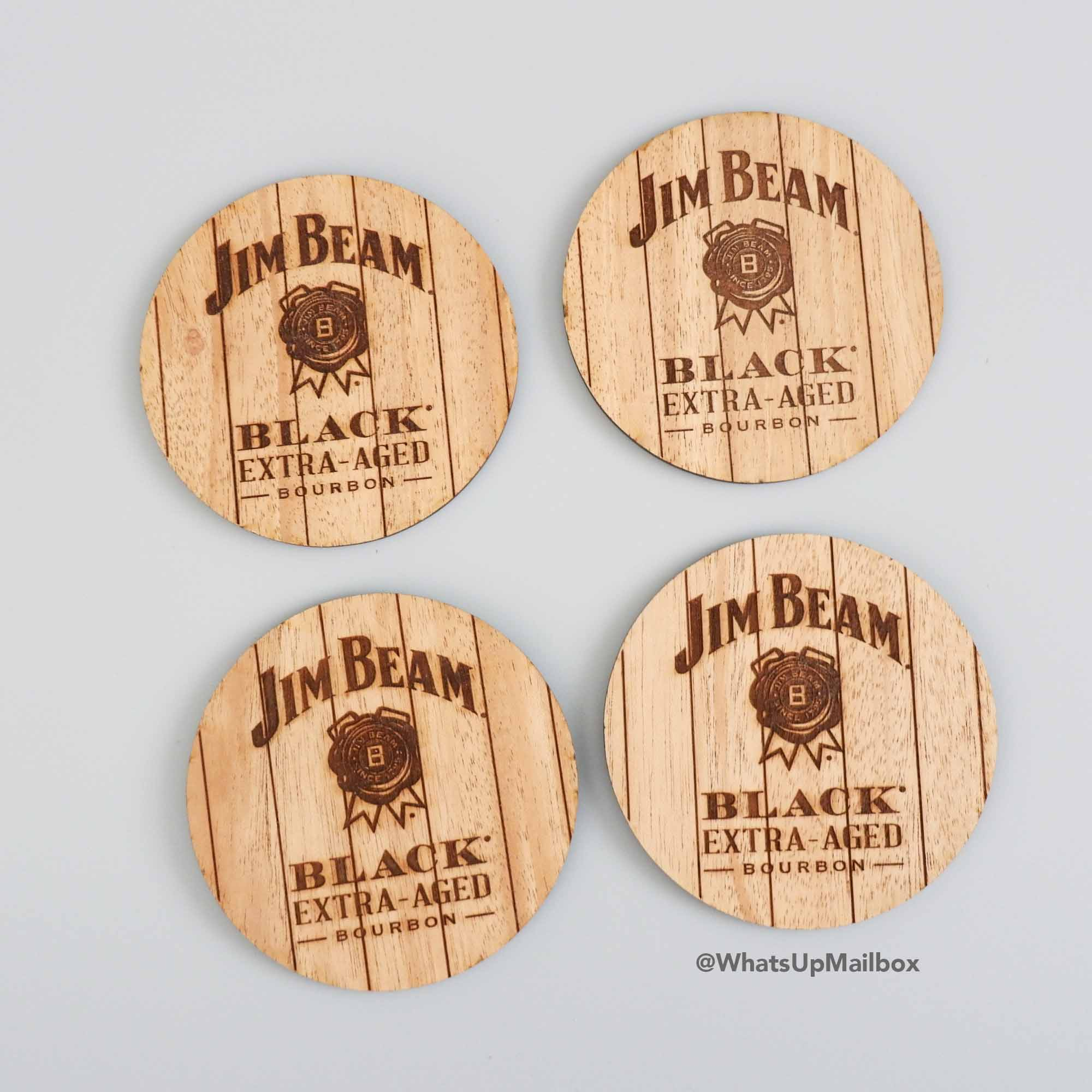 Woodchuck USA Jim Beam Black Coasters