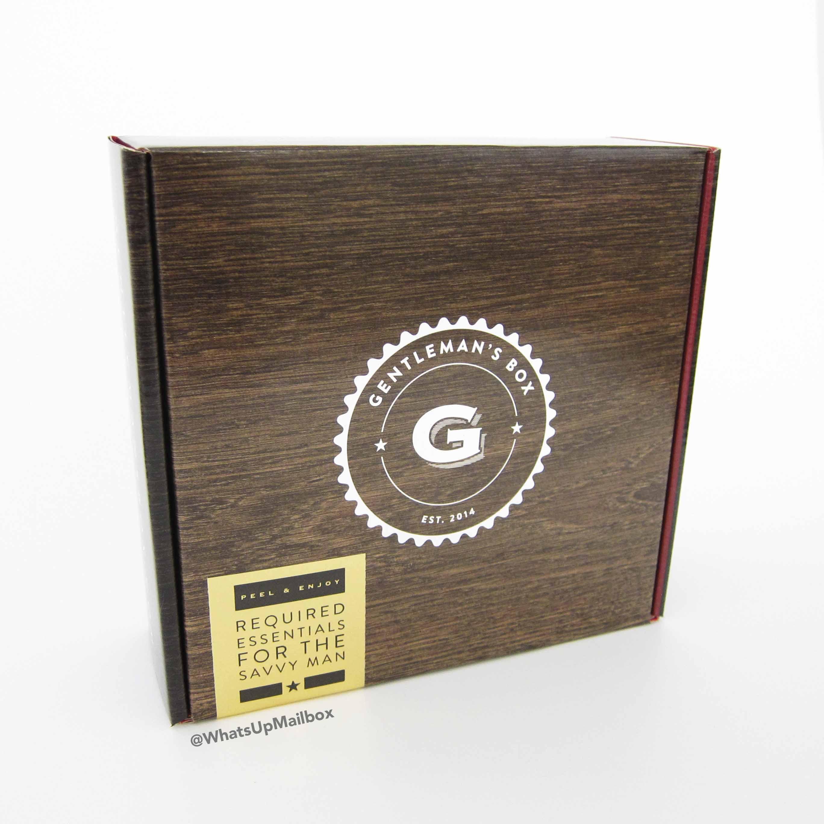Gentleman's Box November 2016 Box