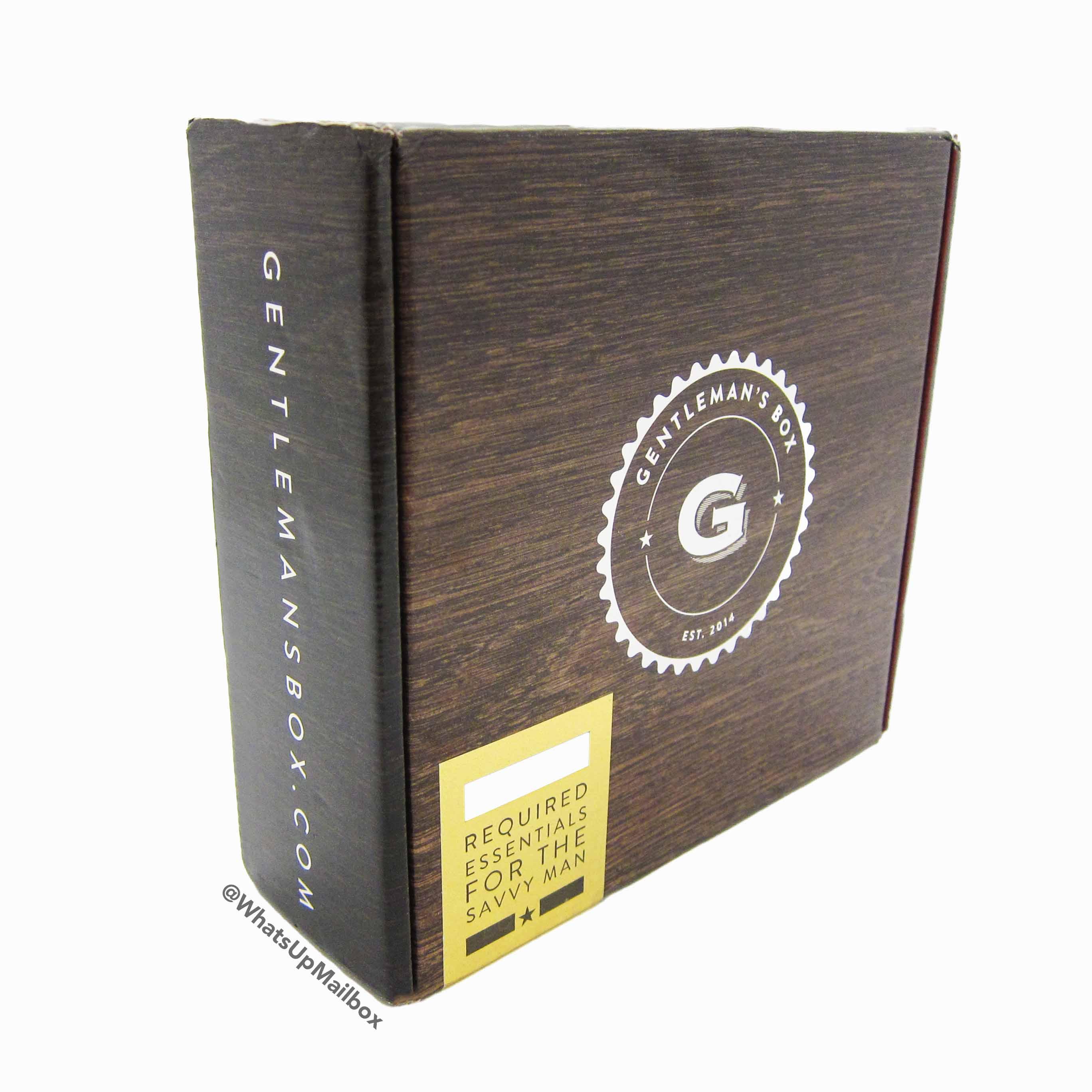 Gentleman's Box September 2016 Box