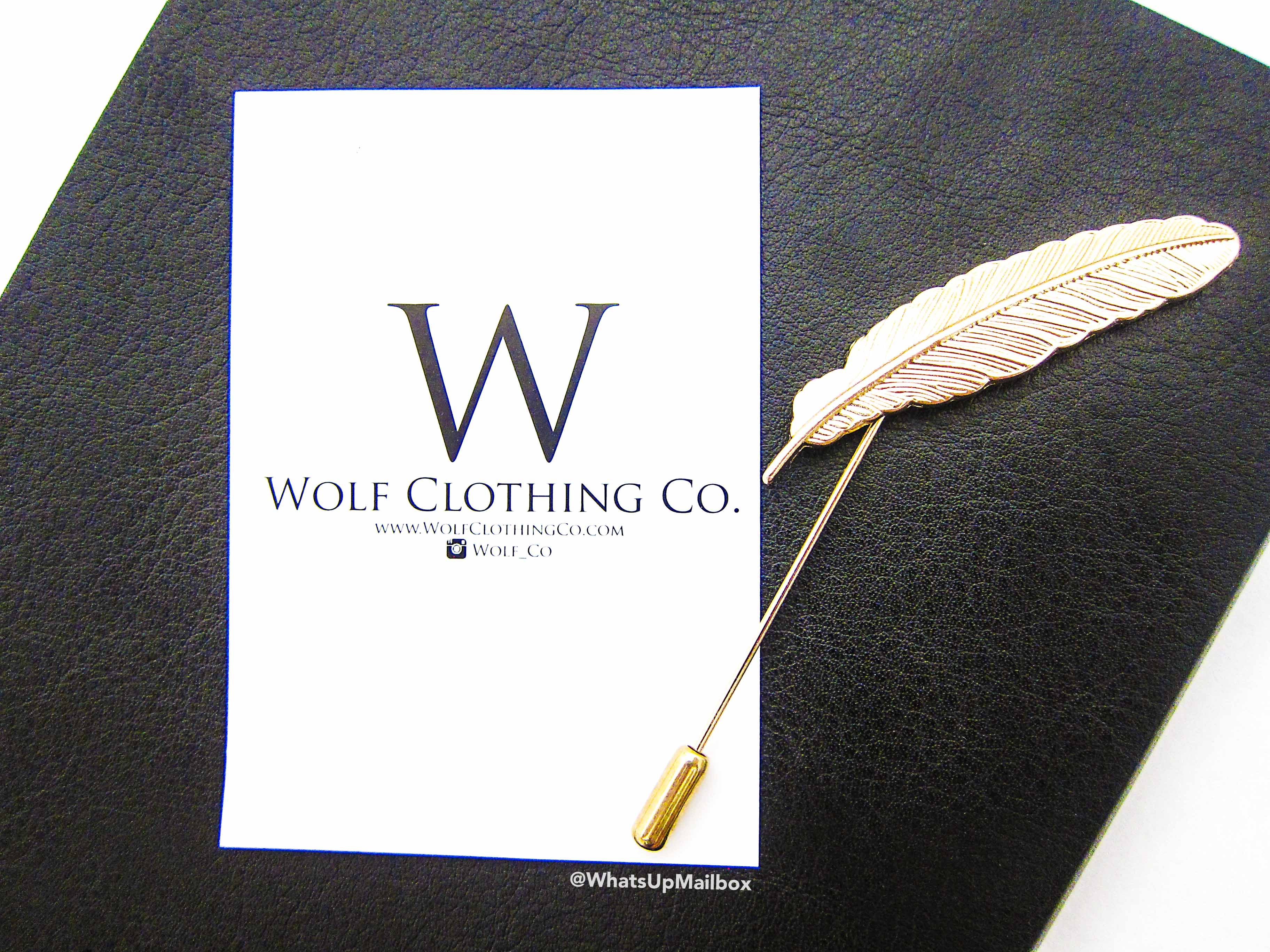Wolf Clothing Co. - Gold Feather Lapel Pin