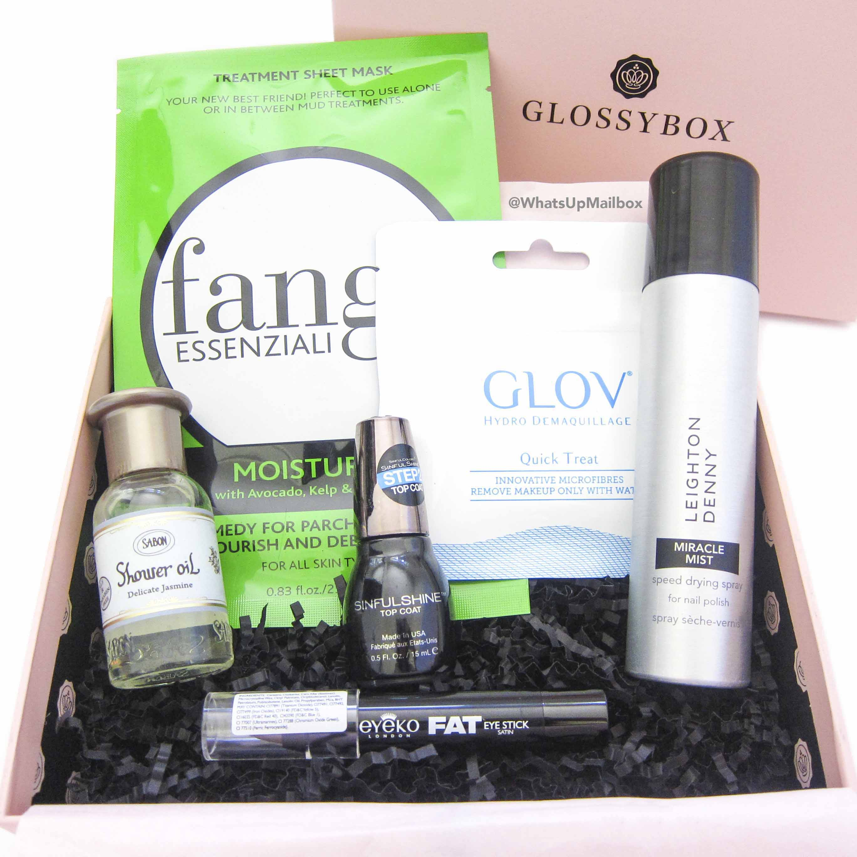 Glossybox July 2016 Items