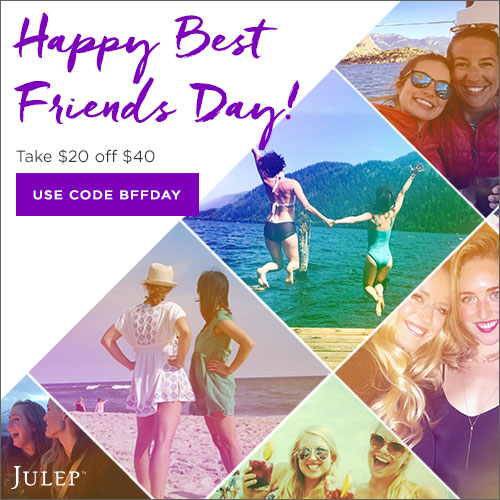 Julep $20 off $40 or more!