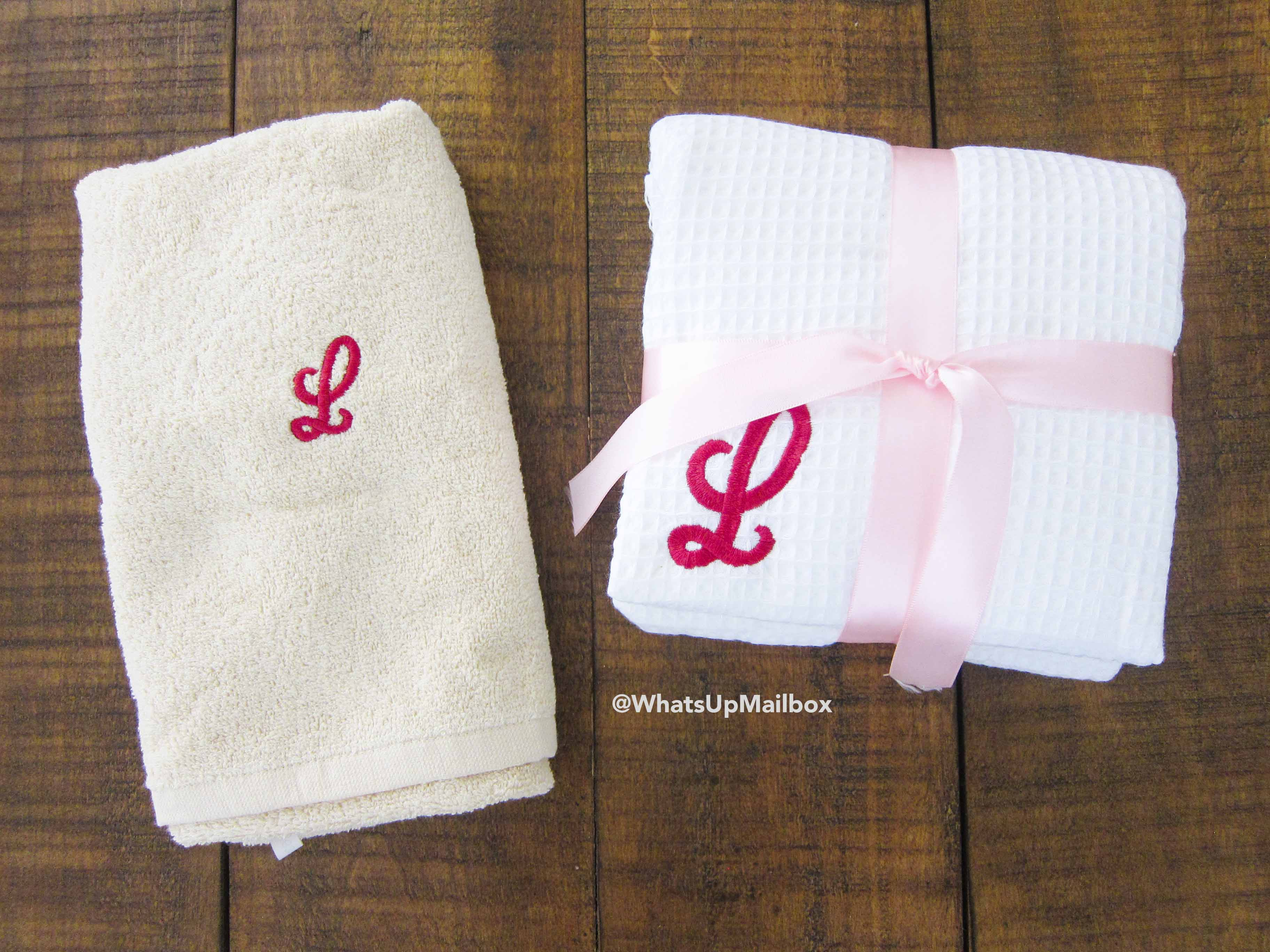 Boca Terry Monogrammed Face/Hand Towel & Spa Wrap