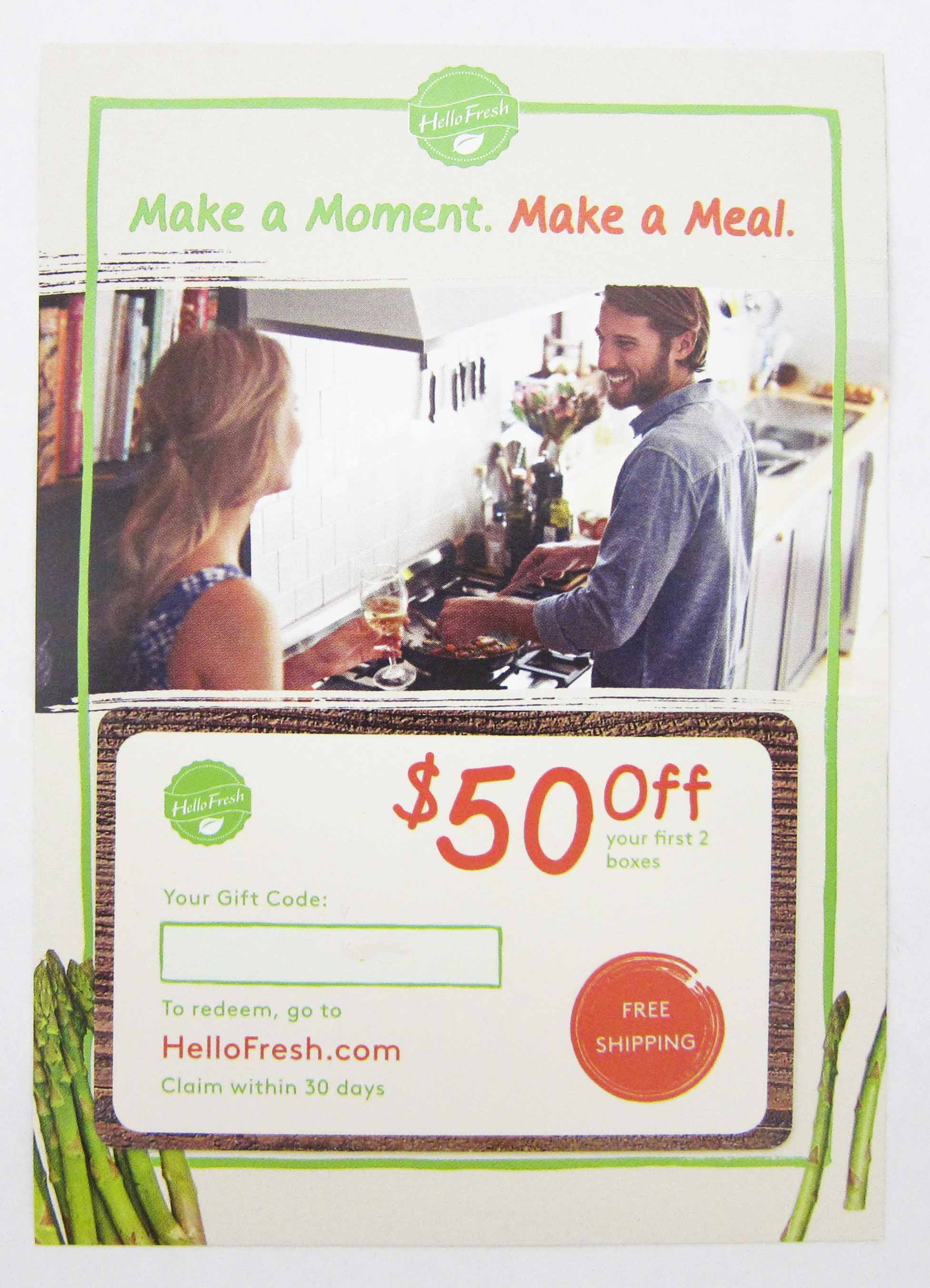 Hello Fresh $50 Coupon