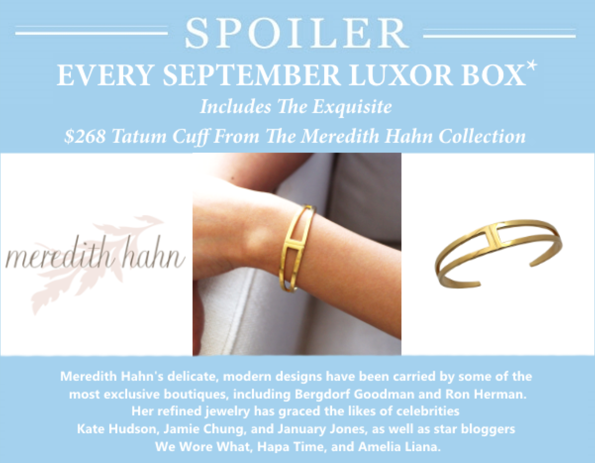 Luxor Box September 2015 Spoiler!