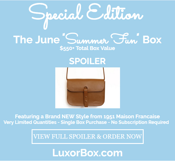 Luxor Box Special Edition Summer Fun 2016 Box Spoiler!