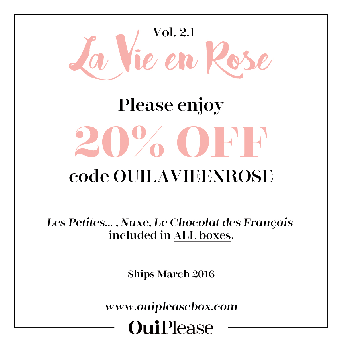 Oui Please 2.1 Coupon