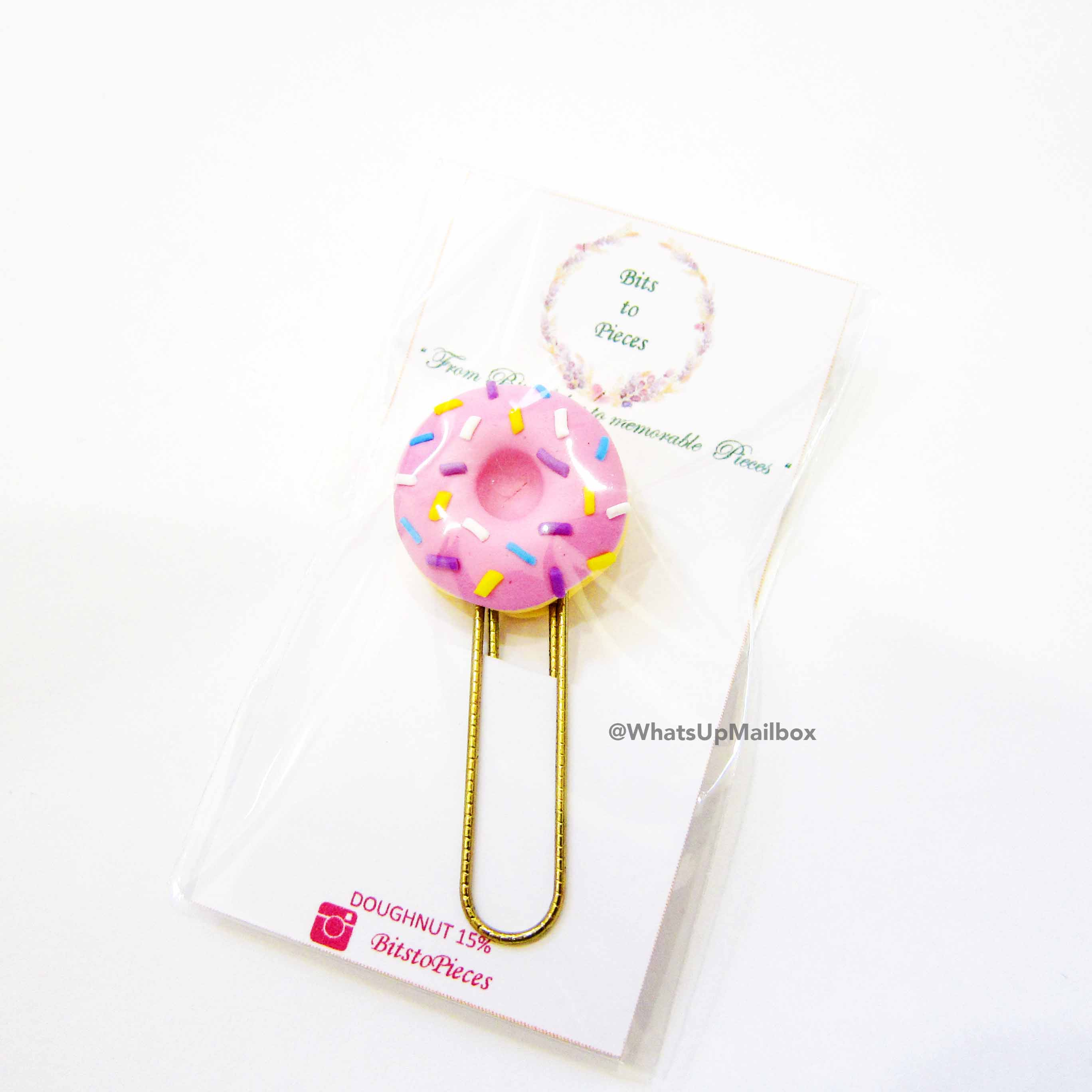 Panduh Box July 2016 - Bits to Pieces Donut Paper Planner Clip