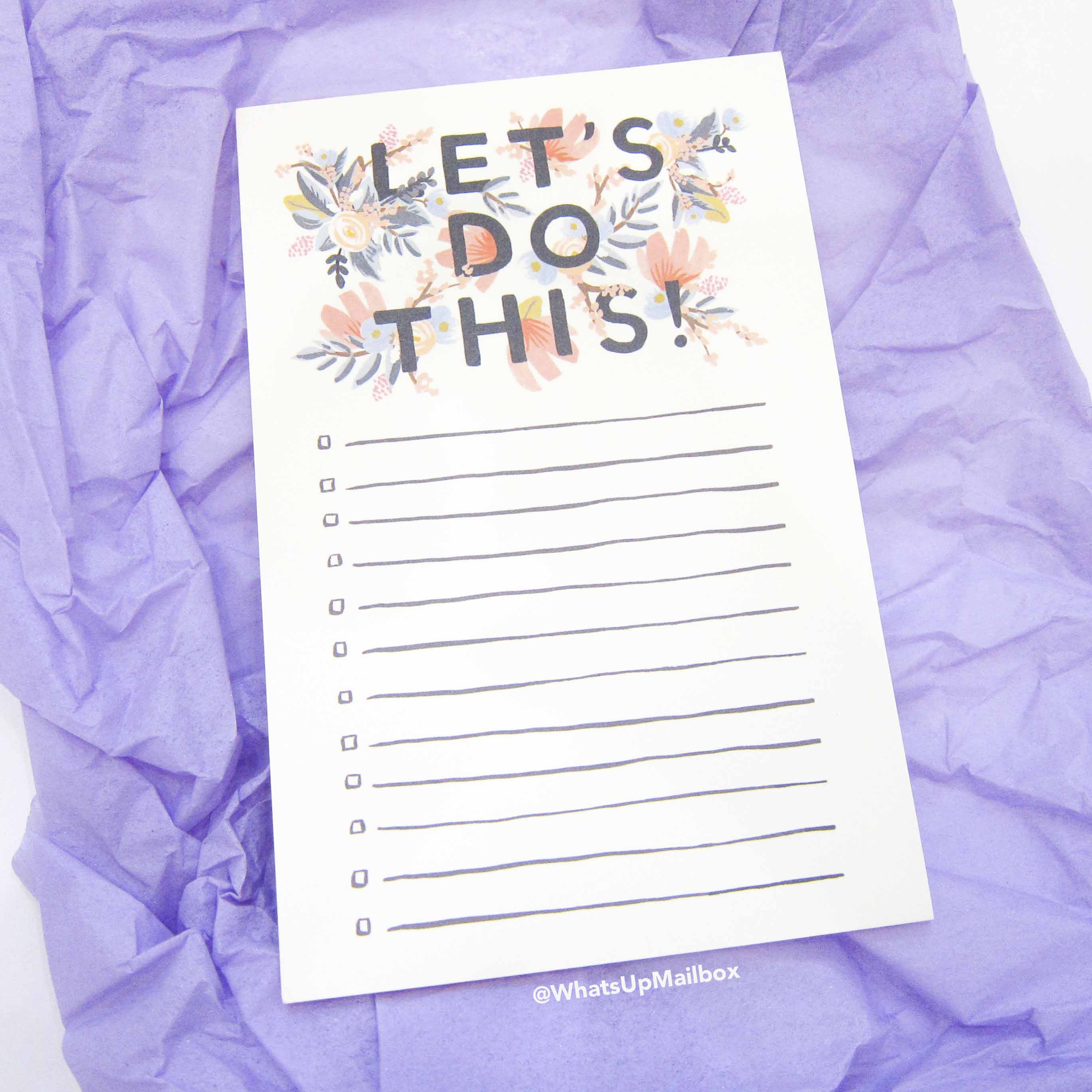 Panduh Box July 2016 - Let's Do This Notepad