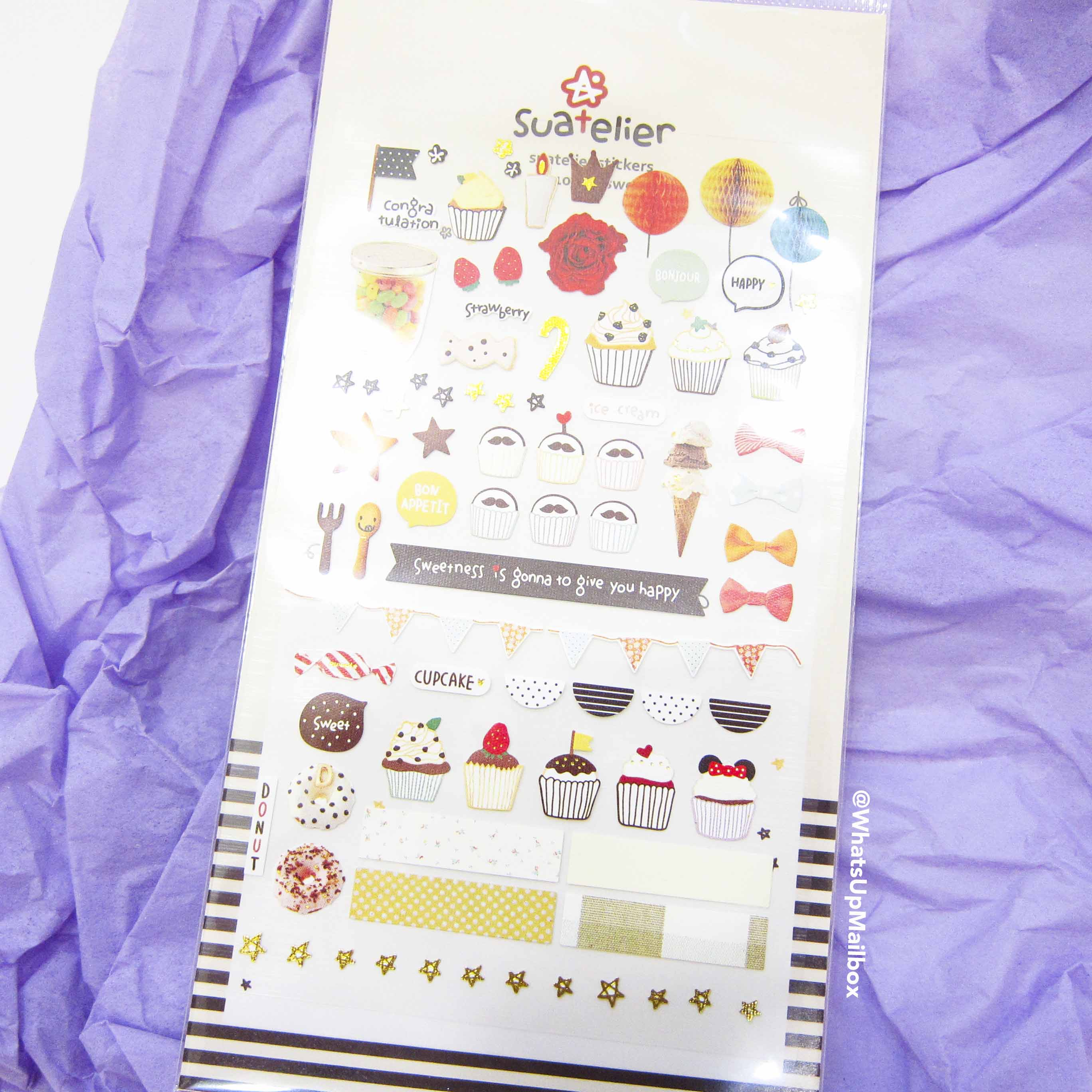 Panduh Box July 2016 - Sue Atelier Stickers