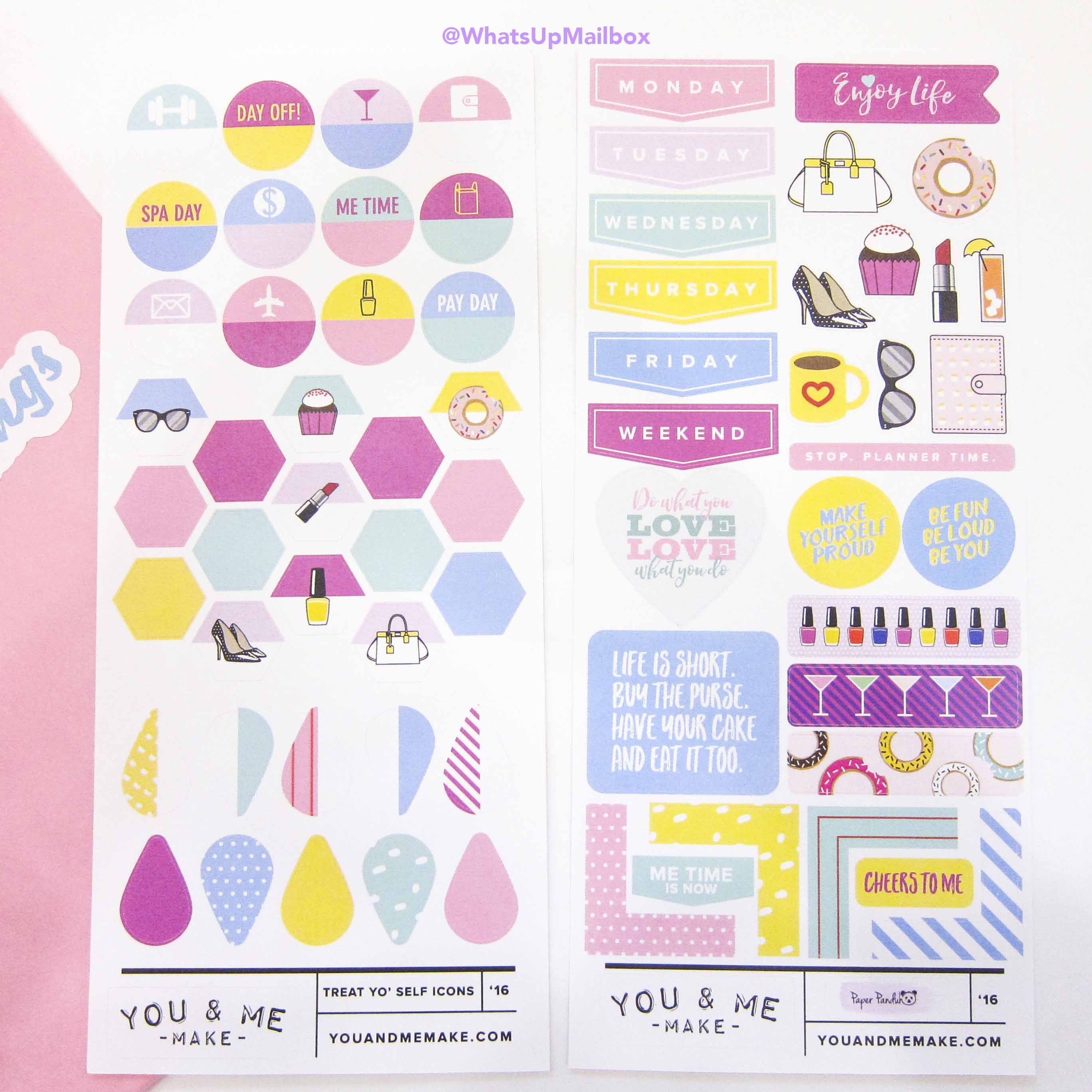 Panduh Box July 2016 - You & Me Make Stickers