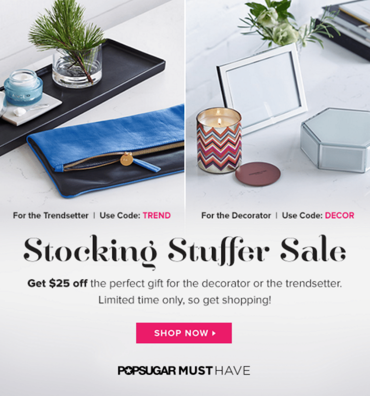 Popsugar Must Have Stocking Stuffers Sale