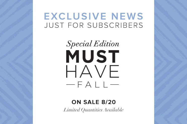 Popsugar Special Edition Fall 2015 Must Have Box News!