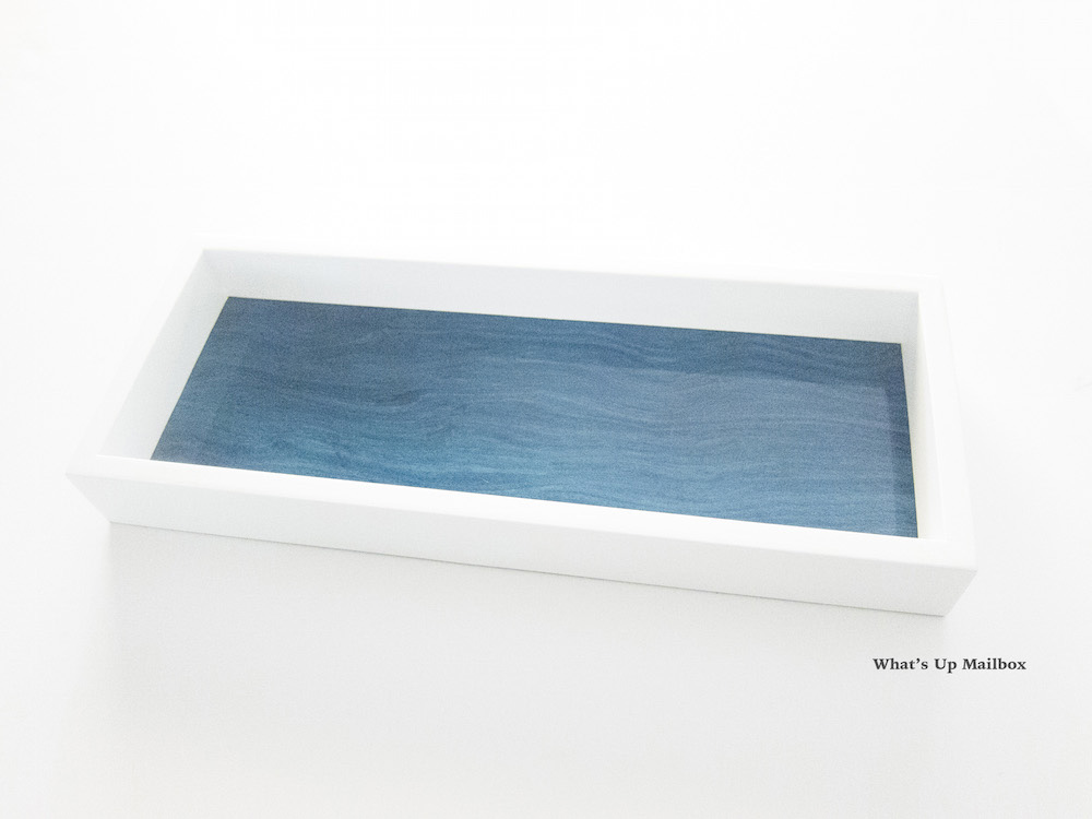 Swing Design Aura Lacquer Valet Tray in Aquamarine