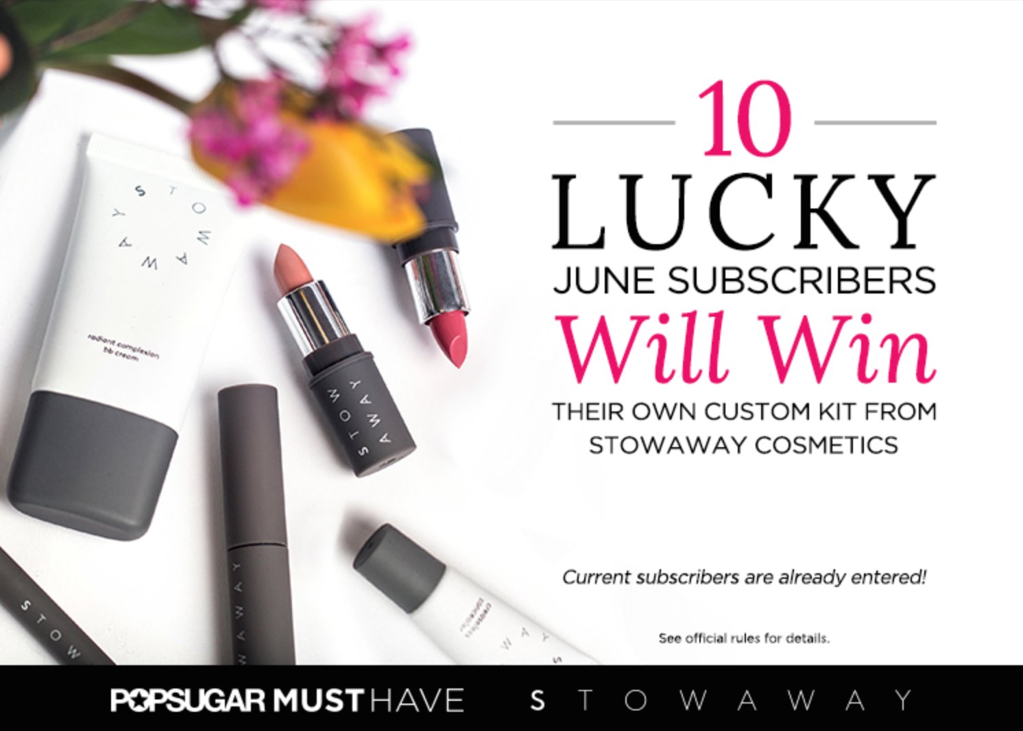 Popsugar Free Stowaway Cosmetics Kit for 10 Lucky June Subscribers!