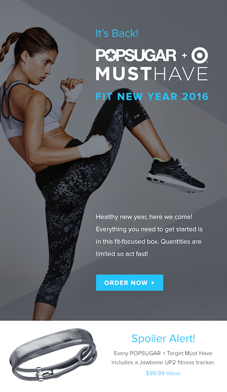Popsugar Must Have + Target Fit New Year 2016 Box On Sale Now - SOLD OUT!