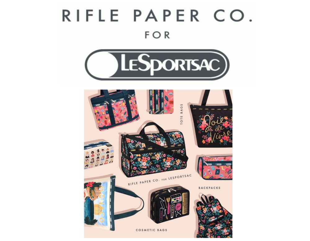 Rifle Paper Co. x LeSportsac Collection Now Available!