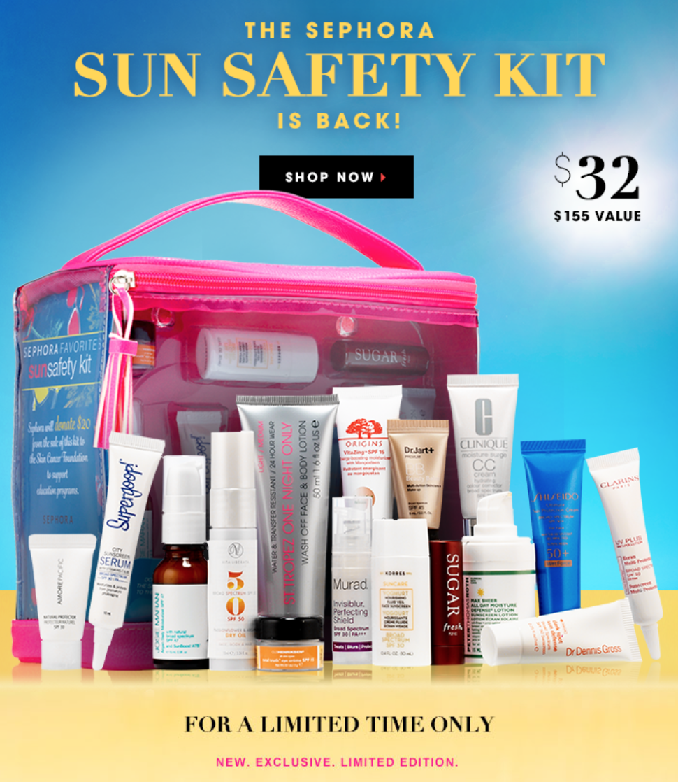 Sephora Sun Safety Kit is here!
