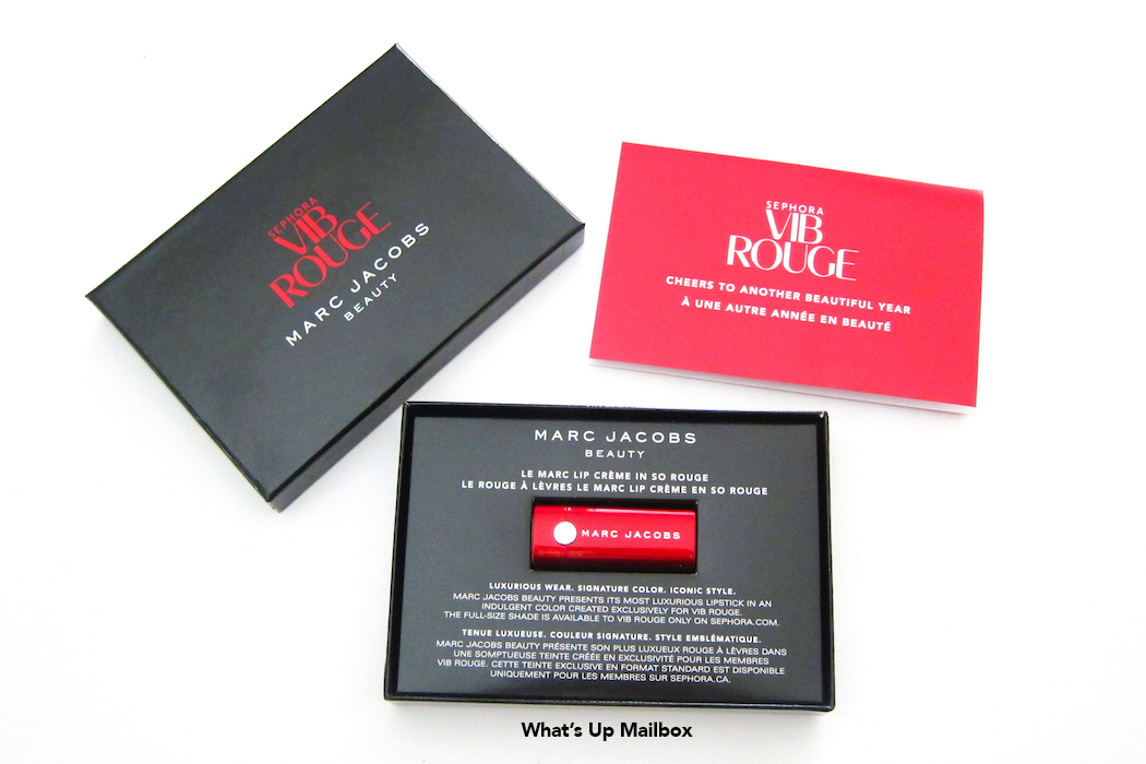 Sephora VIB Rouge 2015 Welcome Gift - Marc Jacobs Lipstick
