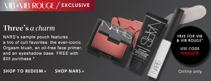 Sephora GWP from NARS - VIB & VIB Rouge Only – What's Up Mailbox