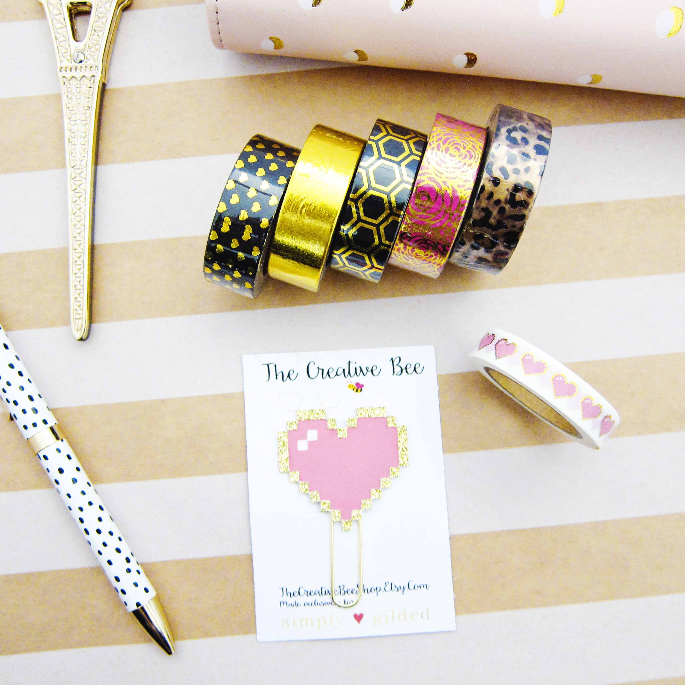 Etsy Haul: Simply Gilded Washi Tapes & Planner Clip