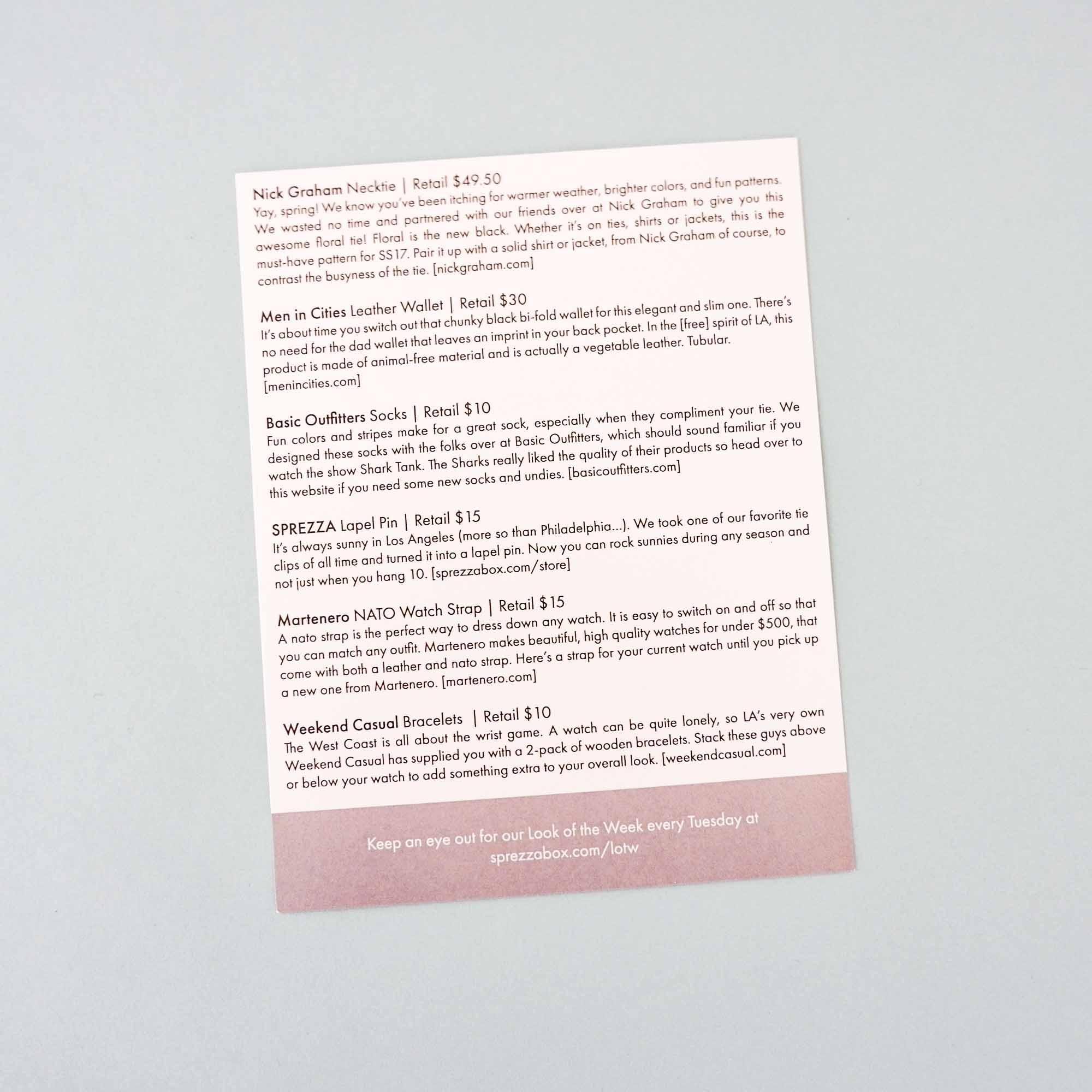 Info Card Back