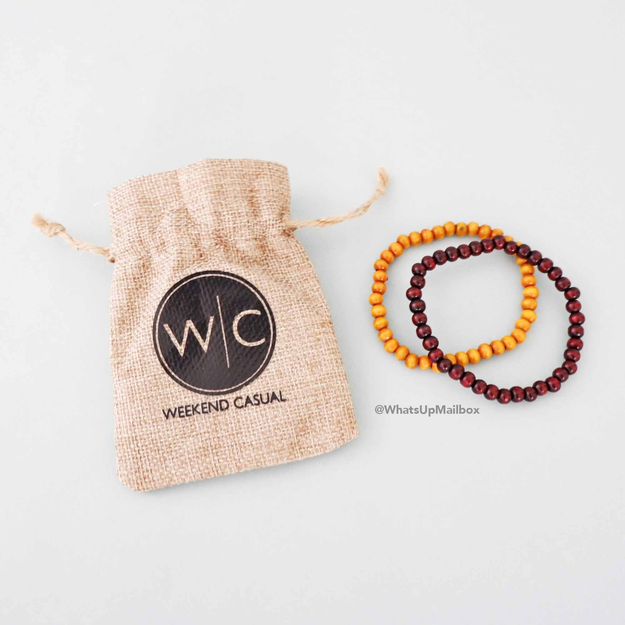 Weekend Casual Wooden Bead Bracelets