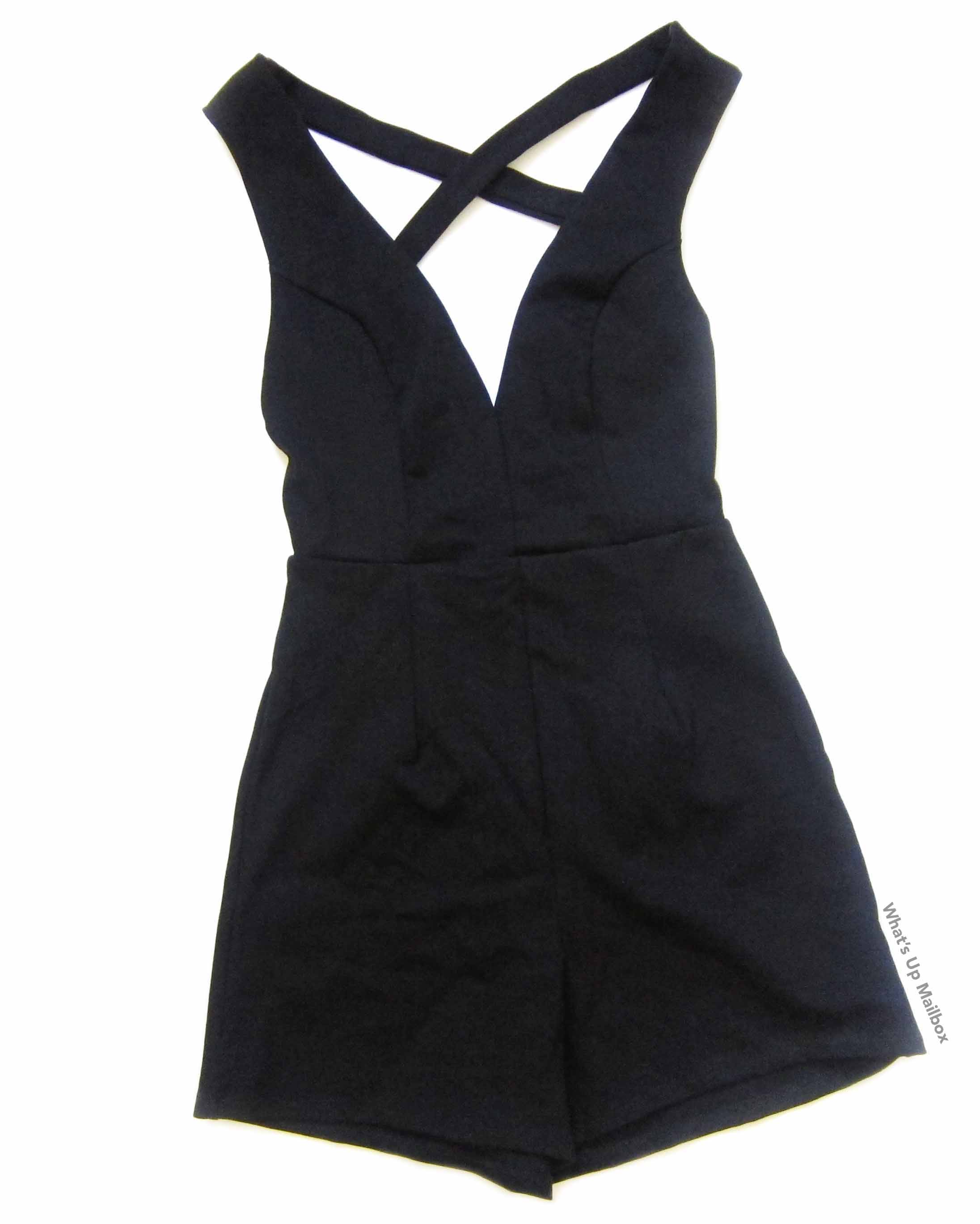 Square Hearts June 2016 Black Romper