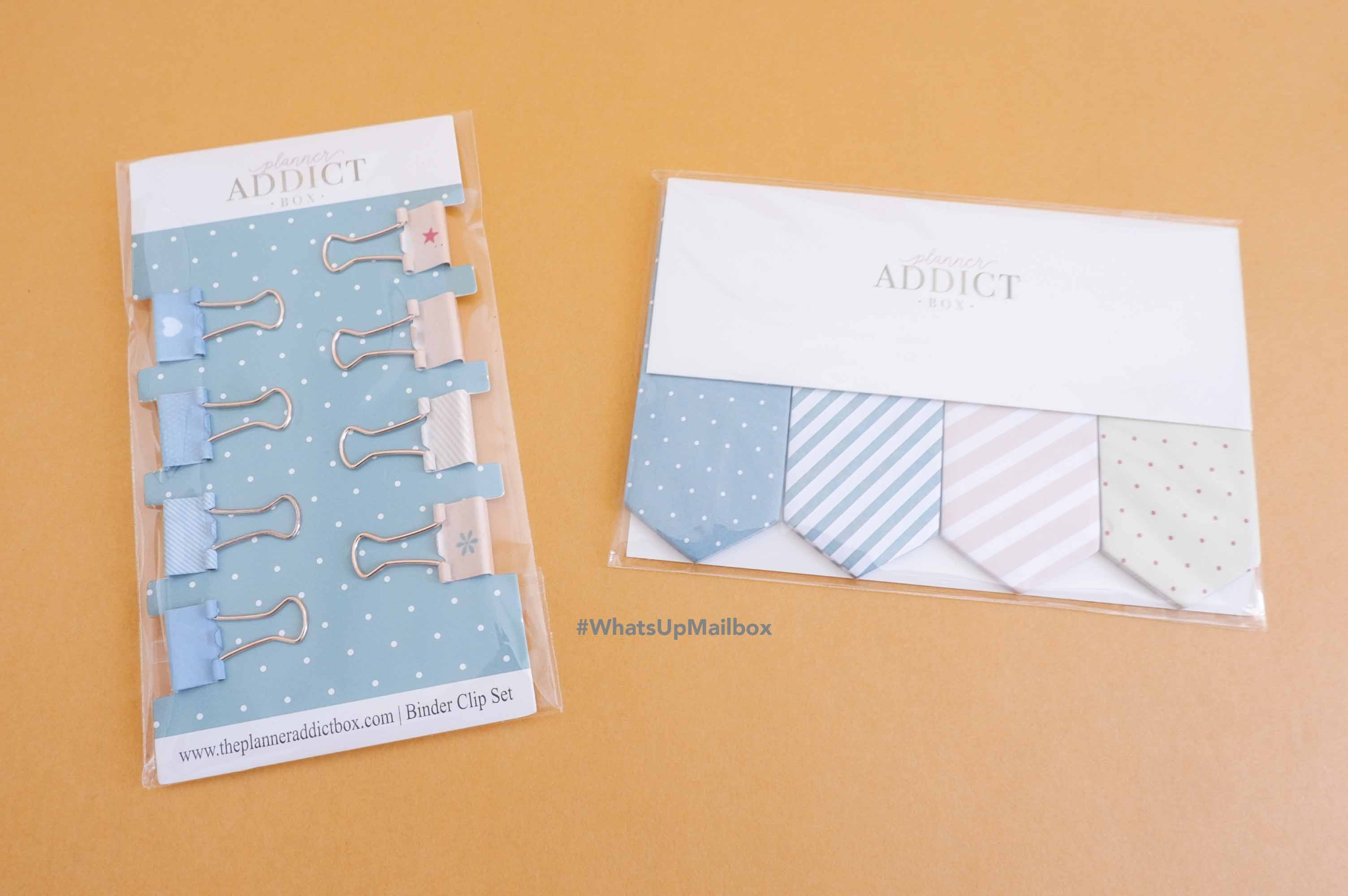 The Planner Addict Box - Mini Binder Clips & Page Flags
