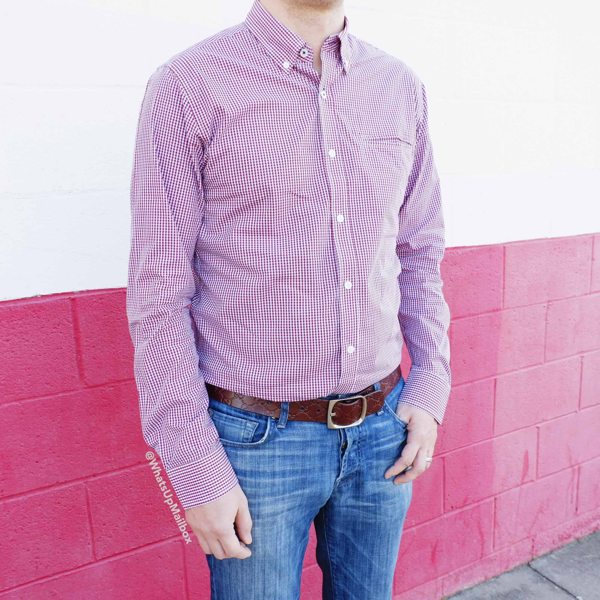 Trendy Butler - Cohesive & Co. Red Checkered Button Down Shirt