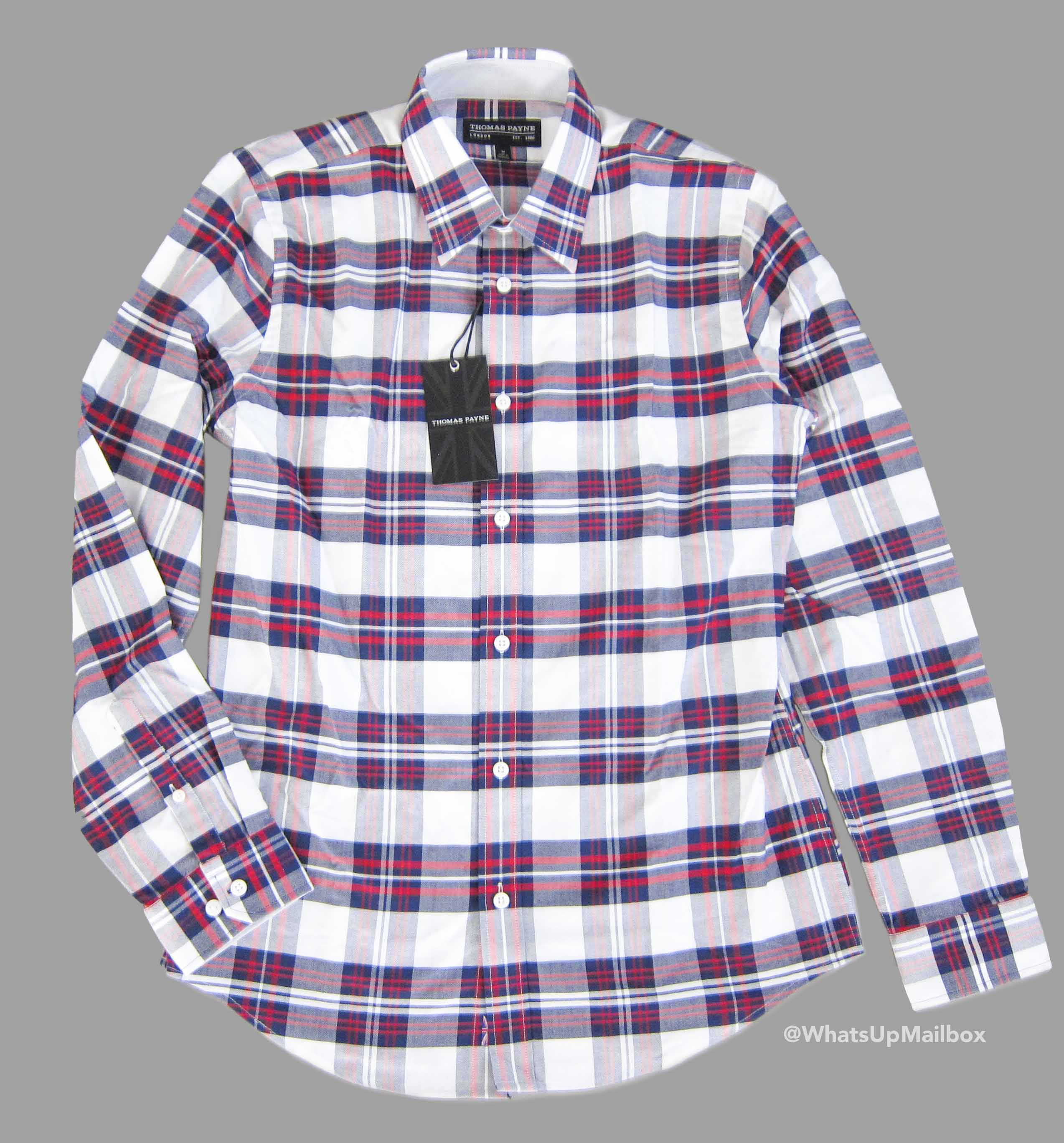 Trendy Butler - Thomas Payne Plaid Long Sleeve Shirt